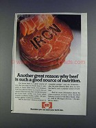 1980 Beef Industry Council Ad - Great Reason