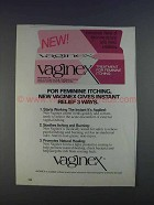 1980 Vaginex Medication Ad - For Feminine Itching