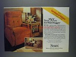 1980 Sears Wall Hugger Easy Chair Ad