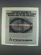 1980 Fischer Coup Racquet Ad - Confront the Notion