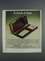 1980 Rolfs French Clutch Ad - A Clutch of Class