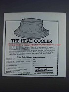 1980 Eddie Bauer Toweling Hat Ad - The Head Cooler
