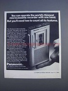 1980 Panasonic RN-006A Microcassette Recorder Ad