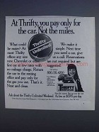 1980 Thrifty Rent-a-Car Ad - You Pay Only for the Car