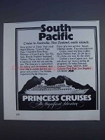 1980 Princess Cruises Ad - South Pacific