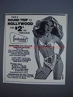 1980 Frederick's of Hollywood Lingerie Ad - Round Trip