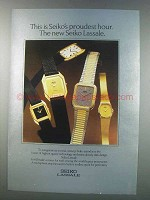1981 Seiko Lassale Watches Ad - Proudest Hour