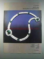 1981 Cartier Necklace Ad - Jewelers to The World