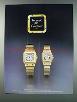 1981 Cartier Watches Ad - Les Must de Cartier