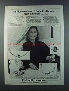 1981 Fortunoff Jewelry Ad - Lauren Bacall - Lose heart