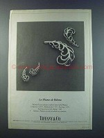 1981 Tiffany Paloma Picasso Gold Plume Pins Ad