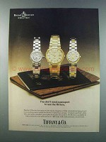 1981 Tiffany & Co. Baume & Mercier Riviera Watches Ad