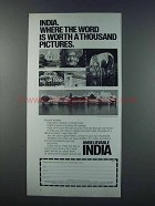1981 India Tourism Ad - Word is Worth Pictures