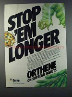 1981 Ortho Orthene Insecticide Ad - Stop 'Em Longer