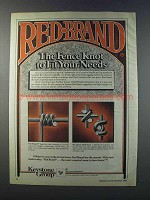 1981 Keystone Red Brand Fence Ad - Monarch, Square Deal