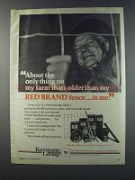 1981 Keystone Red Brand Fence Ad - Only Thing Older