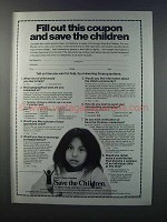1981 Save the Children Ad - Fill Out this Coupon