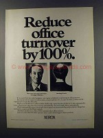 1981 Xerox 5600 Copier Ad - Reduce Office Turnover
