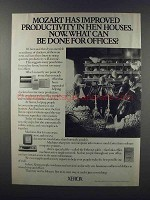 1981 Xerox Copiers and Ethernet Cable Ad - Mozart
