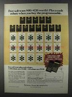1981 TI-58C, TI-59 Calculators and Software Ad