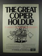 1981 Hammermill Paper Ad - The Great Copier Holdup