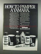 1981 Yamaha Lubricants Ad - How To Pamper