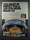 1981 U.S. Army Ad - You Might Be Perfect For Job