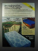 1981 Sears-O-Pedic Supreme Mattress and Boxspring Ad