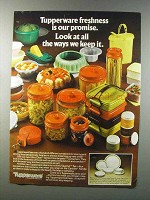 1981 Tupperware Containers Ad - Freshness is Promise