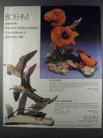 1981 Boehm Red Poppies and Least Sandpipers Ad