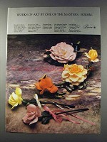 1981 Boehm Ad - Rose of Love, Ivory Bridal Rose