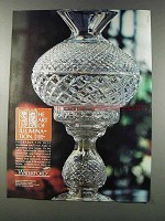 1981 Waterford Lamp Ad - The Art of Illumination