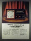 1981 Mattel Electronics Computer Chess Ad - Checkmates