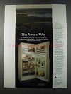 1981 Amana Refrigerators Ad - The Amana Way