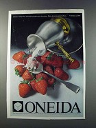 1981 Oneida American Colonial Spoon & Pipkin & Plate Ad