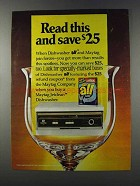 1981 Dishwasher All Ad - Read This And Save $25