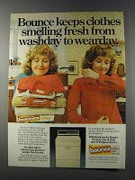 1981 Bounce Dryer Sheets Ad - Washday to Wearday