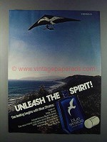 1981 Shulton Blue Stratos Cologne Ad - Unleash Spirit