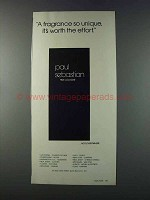 1981 Paul Sebastian Cologne Ad - So Unique