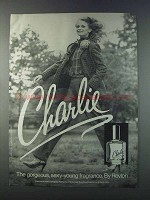 1981 Revlon Charlie Perfume Ad - Gorgeous, Sexy-Young