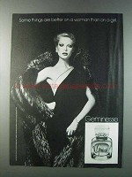 1981 Max Factor Geminesse Perfume Ad - Better on Woman