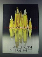 1981 Halston Night Perfume Ad
