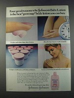 1981 Johnson & Johnson Baby Lotion Ad - Best Grownup
