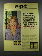 1981 e.p.t. Early pregnancy Test Ad - Was Easy