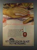 1981 L'erin Color Glaze Ad - Say It Without a Word