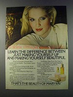 1981 Mary Kay Makeup Ad - Learn the Difference