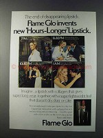 1981 Flame Glo Hours-Longer Lipstick Ad