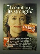1981 Extra-Strength Tylenol Ad - I Count On