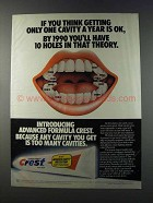 1981 Crest Toothpaste Ad - 10 Holes in that Theory
