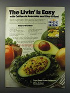 1981 Rice-A-Roni Chicken Flavor Ad - Easy Livin' Salad